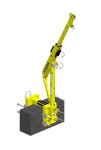 Davit Arm 610/1200mm Wallmount System